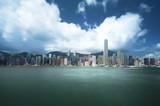 Hong Kong harbour, long exposition - 230475196