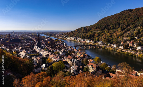 Heidelberg Panorama im Herbst - 230490911