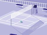 volleyball sport court scene