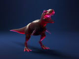 Toy red dinosaur on a dark background