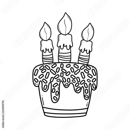 Birthday Cake Cartoon Black And White Buy Photos Ap Images
