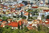 Greece, Athens, view of the traditional Plaka neighborhood from the Acropolis hill. - 230495518
