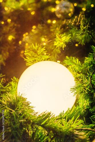 Christmas lights of decoration season greetings - 230497795