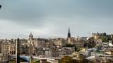 hyper lapse, Edinburgh skyline as seen from Calton Hill, Scotland, UK - 230500770