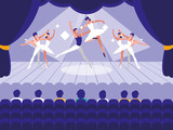 stage with show ballet scene - 230501963