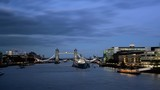 hyper lapse of Tower Bridge at sunset, London, UK - 230502557