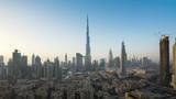 sunset timelapse, downtown of Dubai, UAE - 230504355