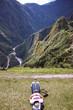 Siesta en el Machu Picchu.