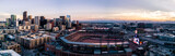 Aerial drone photo of the city of Denver skyline at sunset - 230523774
