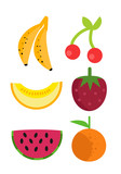 cute minimalist fruits - 230534723