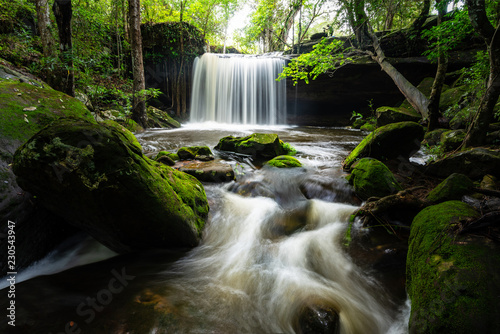 Smooth waterfall  - 230543947