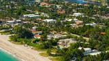 Beachfront mansions in Miami
