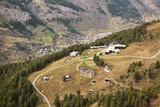 Zermatt village in a deep valley, Switzerland - 230579941