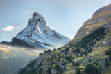Matterhorn against sunset in Swiss Alps, Zermatt area, Switzerland - 230582304