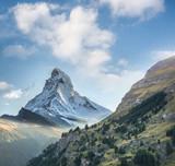 Matterhorn against sunset in Swiss Alps, Zermatt area, Switzerland - 230582305