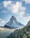 Matterhorn against sunset in Swiss Alps, Zermatt area, Switzerland - 230582308