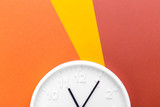 Wall Clock on color background