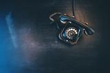 Black vintage landline telephone - 230595573