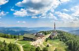 Jaworzyna Krynicka with beautiful panorama of Bieszczady aerial view