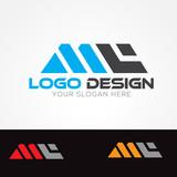MC Letter Logo Design Vector - 230613736