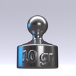 3d rendered calibration weights on a white background