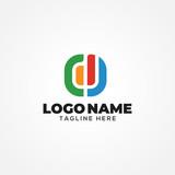 Rectangle Colorful Logo Design Template Vectro Illustration - 230615967