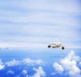 airplane in blue sky, travel concept - 230617316
