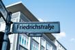 text Friedrichstrasse in a nameplate in Berlin
