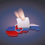 Élection en Slovaquie (fond sombre)