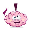 Cartoon vector illustration of pink brain with glasses and thumb up. Concept of brain having an idea. - 230637506