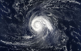 Tropical hurricane over the ocean.Elements of this image are furnished by NASA.. - 230642108