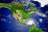 tropical hurricane approaching the USA.Elements of this image are furnished by NASA.. - 230642167