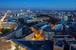 Berlinpanorama blaue Stunde