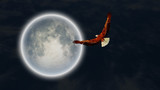 Eagle and full moon