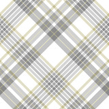 Plaid pattern in grey, white and golden tan. Seamless fabric texture.