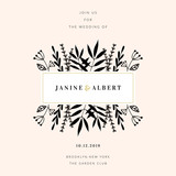 Wedding Invitation Design Template - 230658592