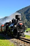 Lokomotive der Zillertalbahn in Mayrhofen