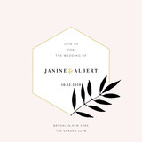 Wedding Invitation Design Template - 230658971