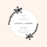 Wedding Invitation Design Template - 230659354