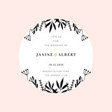 Wedding Invitation Design Template - 230660136