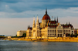Parliament of Hungary at Budapest at sunset - 230679161