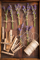 Aromatic and pleasant lavender preparation for home drying