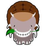 Isolated cute dinosaur cartoon character. Vector illustration design © laudiseno