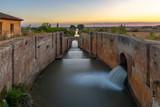 Locks of Canal de Castilla in Fromista, Palencia province, Spain - 230707110