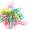 Pile of color clips on white background - 230714397