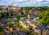 Luxembourg city, view of the Old Town and Grund © Boris Stroujko