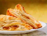 Apple Turnovers on a plate and granite counter top