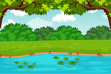 green pond nature scene - 230725942