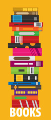 Set of books in flat design style © mix3r