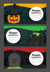 Halloween background flat design vector set © mix3r
